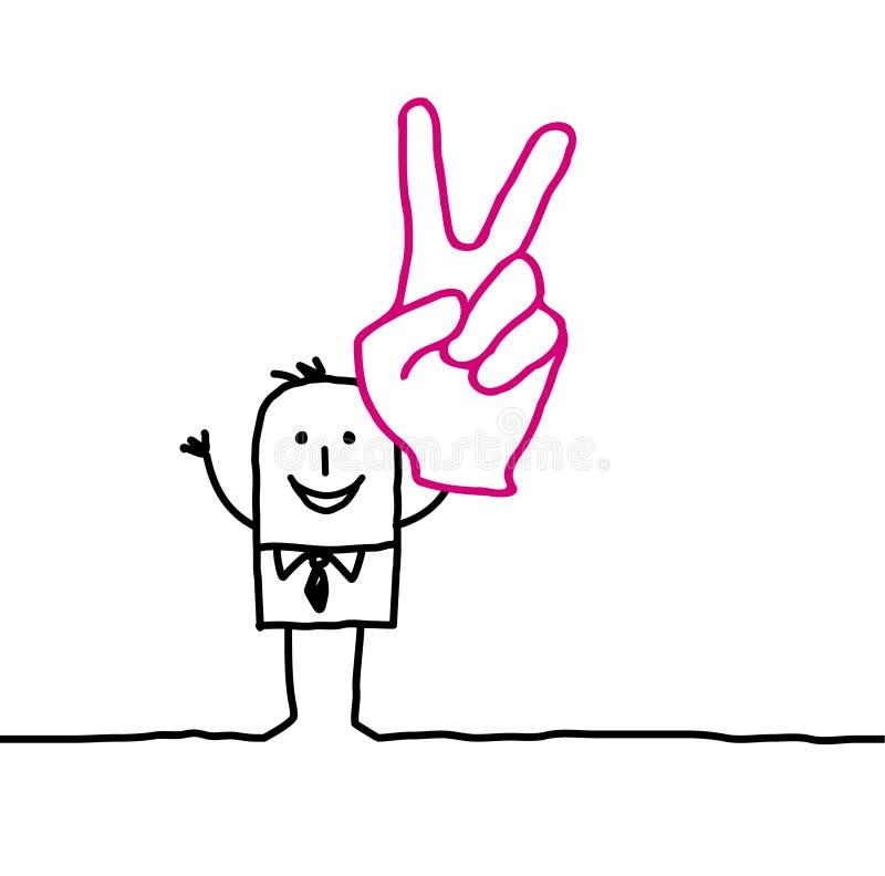 Hombre y victoria libre illustration