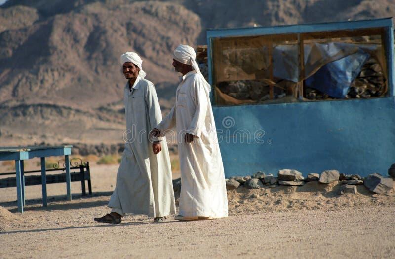 Hombres beduinos, desierto de Estern, Egipto fotografía de archivo libre de regalías