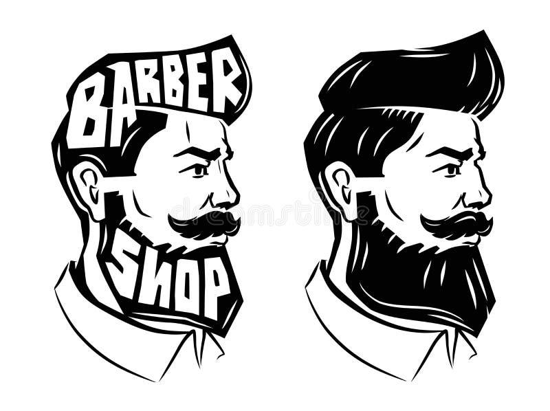 Hombres con la barba stock de ilustración