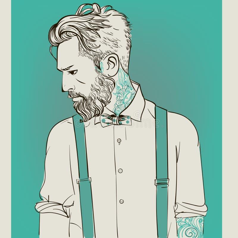 Hombres de la moda del inconformista ilustración del vector