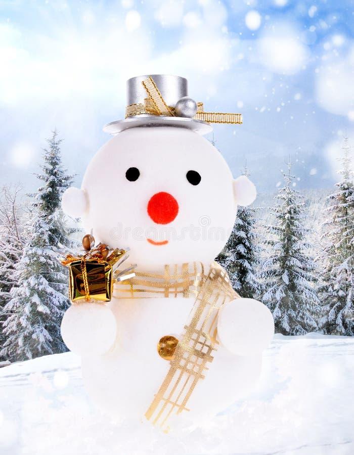 Hombres de la nieve de la Navidad fotos de archivo