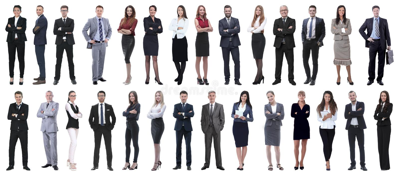 Hombres de negocios acertados aislados en el fondo blanco fotografía de archivo libre de regalías