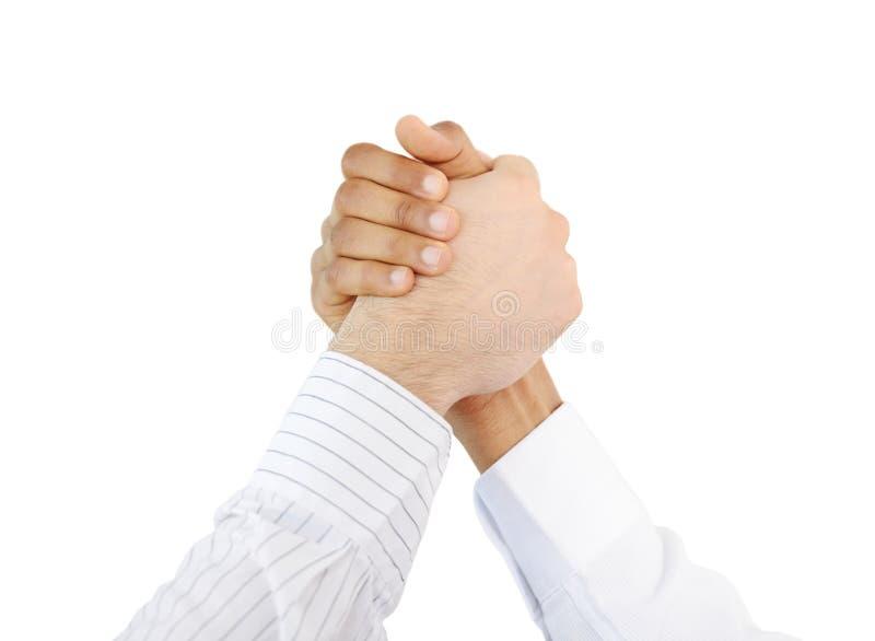 Hombres de negocios acertados de la sacudida de la mano fotografía de archivo