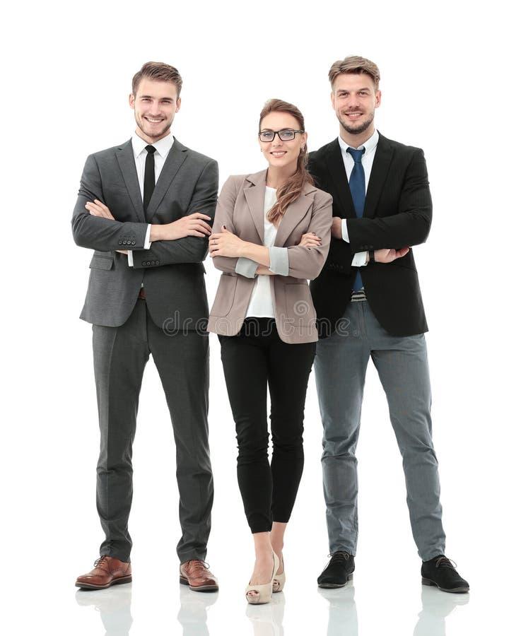 Hombres de negocios acertados que parecen felices y confiados imagen de archivo