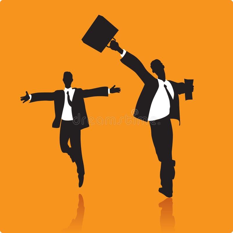Hombres de negocios afortunados ilustración del vector
