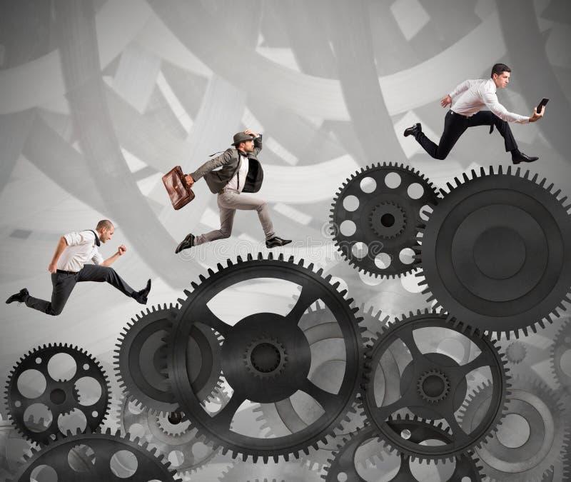 Hombres de negocios de la carrera difícil stock de ilustración