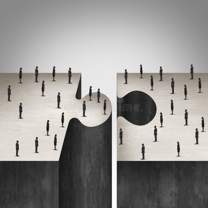 Hombres de negocios de la colaboración stock de ilustración