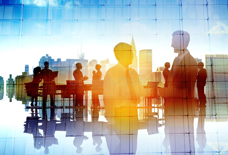 Hombres de negocios de la colaboración Team Discussion Concept foto de archivo