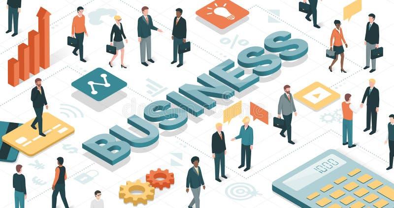 Hombres de negocios de la comunidad stock de ilustración