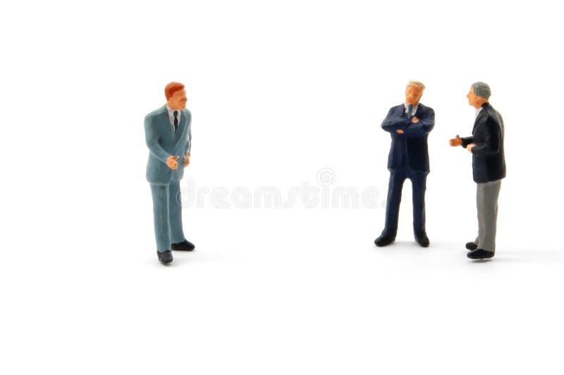 Hombres de negocios de la discusión fotografía de archivo