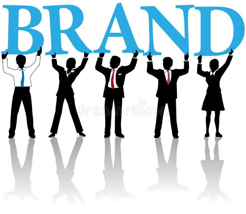 Hombres de negocios de la estructura de marca de fábrica de la palabra de la identidad ilustración del vector