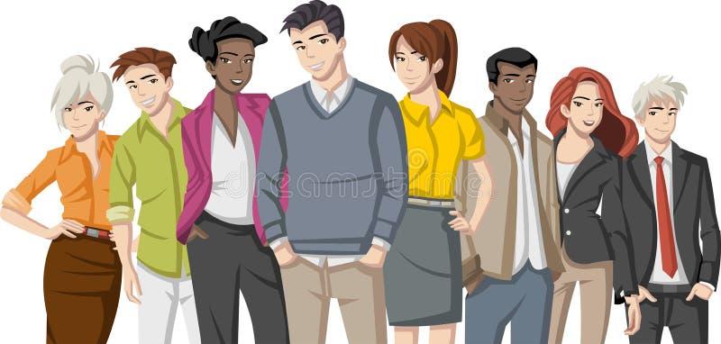 Hombres de negocios de la historieta ilustración del vector