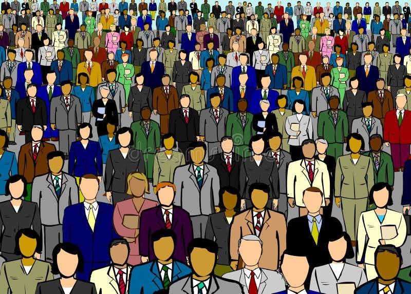 Hombres de negocios de la ilustración del contexto ilustración del vector