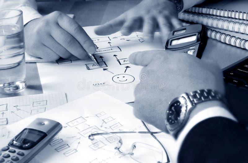 Hombres de negocios de la planificación