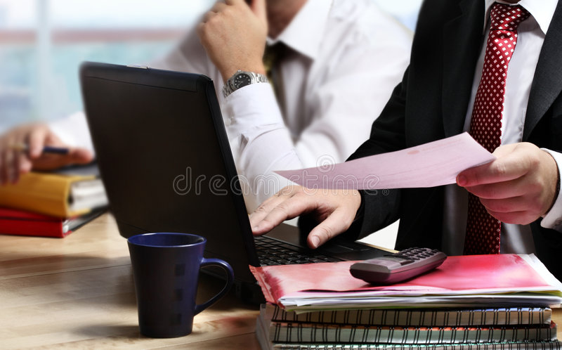 Hombres de negocios de la planificación fotografía de archivo