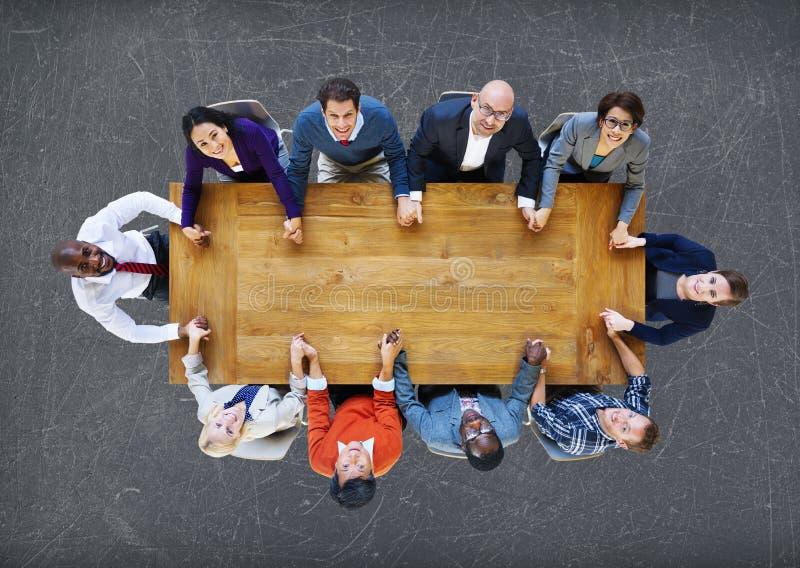 Hombres de negocios de Team Connection Togetherness Concept fotos de archivo
