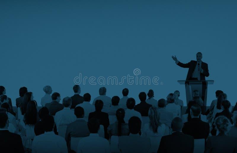 Hombres de negocios de Team Teamwork Cooperation Seminar Concept foto de archivo