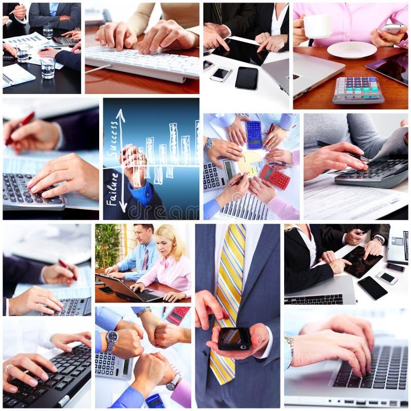 Hombres de negocios del collage del equipo. imagen de archivo