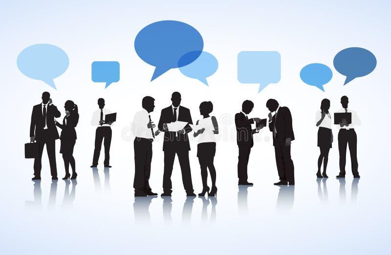 Hombres de negocios del concepto de charla de la discusión fotos de archivo