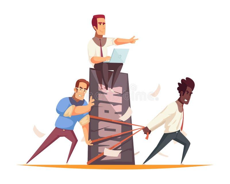 Hombres de negocios del concepto de diseño libre illustration