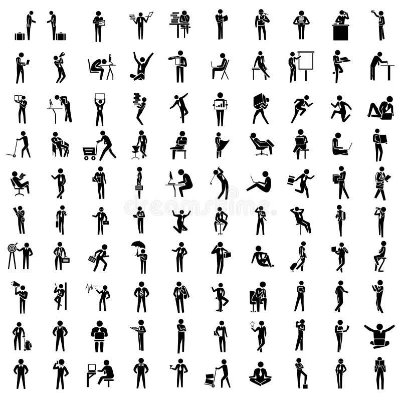 Hombres de negocios del sistema del icono libre illustration