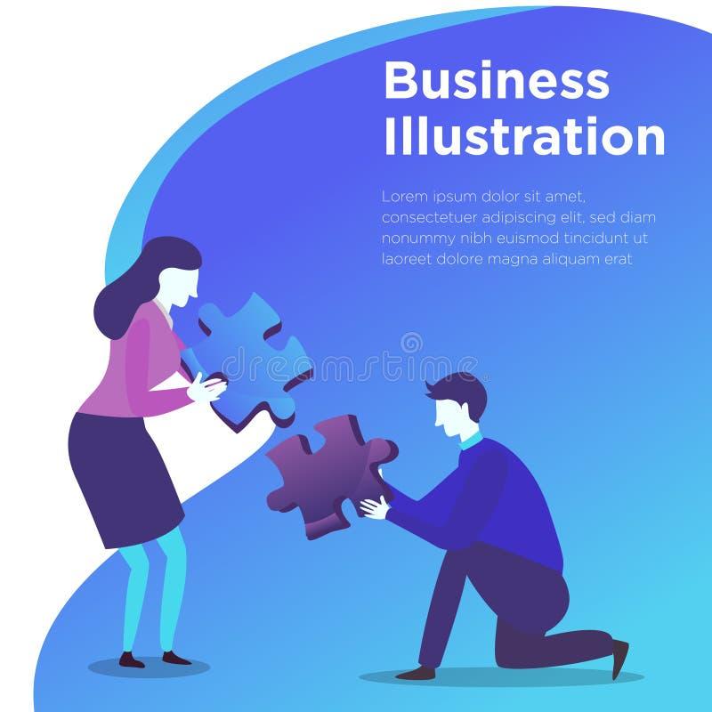 Hombres de negocios del vector del ejemplo libre illustration