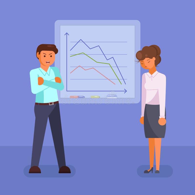 Hombres de negocios deprimidos del vector del diseño plano del estilo ilustración del vector