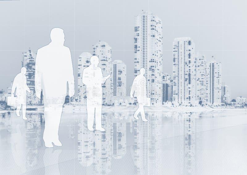 Hombres de negocios en fondo ilustración del vector