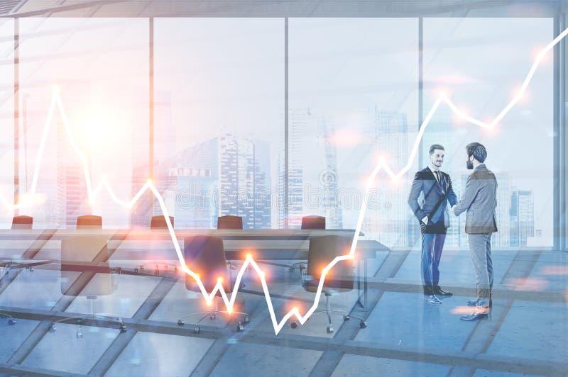 Hombres de negocios en la sala de reunión, gráfico libre illustration