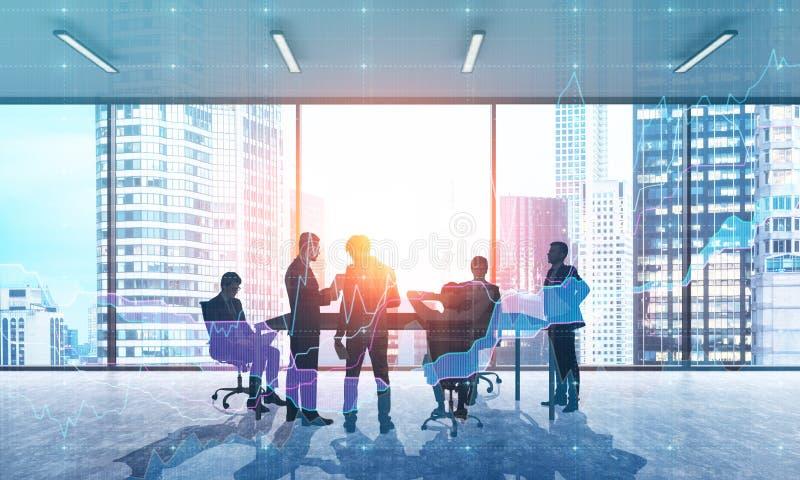 Hombres de negocios en oficina ilustración del vector