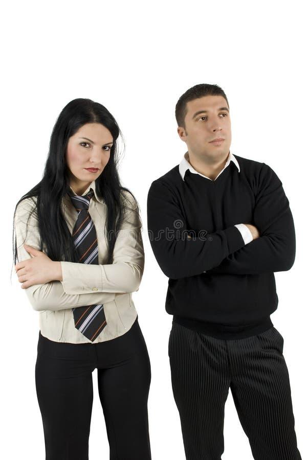 Hombres de negocios enojados fotos de archivo