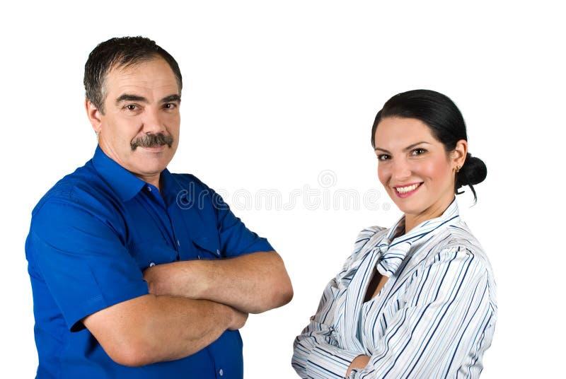 Hombres de negocios felices imagen de archivo libre de regalías