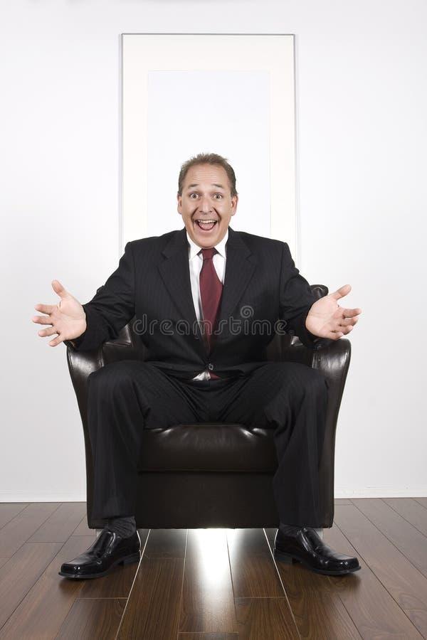 Hombres de negocios felices estupendos imagen de archivo