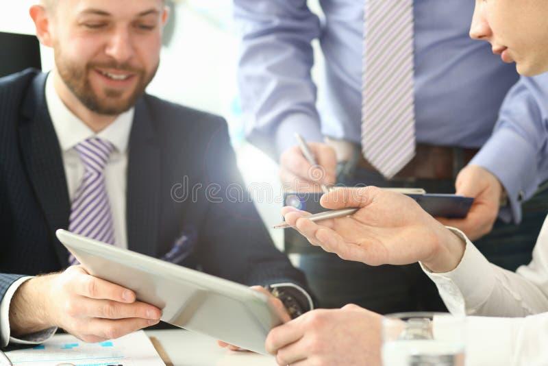 Hombres de negocios felices fotografía de archivo