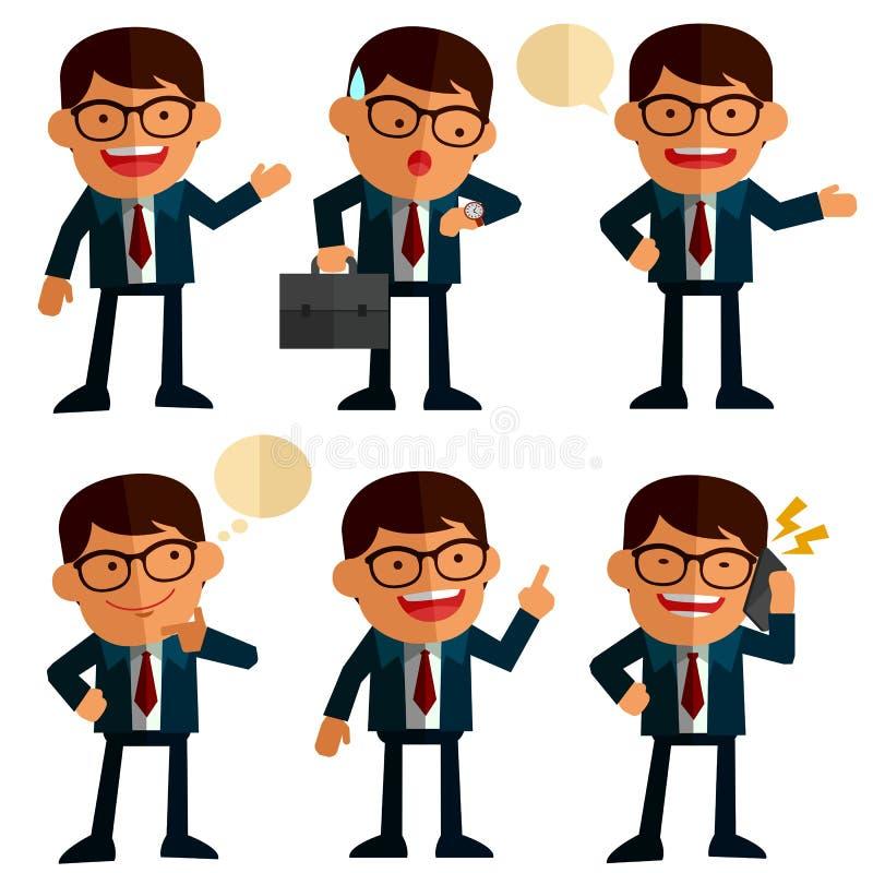 Hombres de negocios fijados ilustración del vector