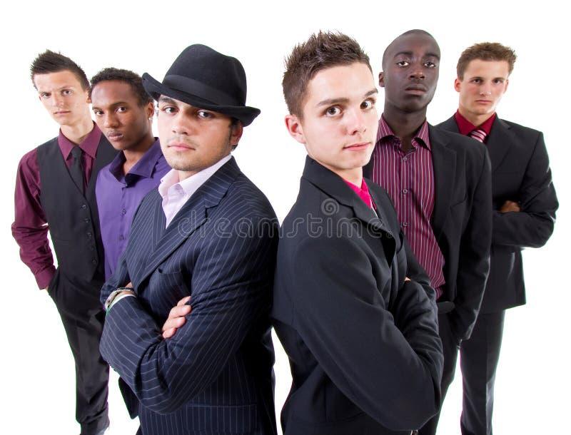 Hombres de negocios interraciales de moda jovenes fotografía de archivo