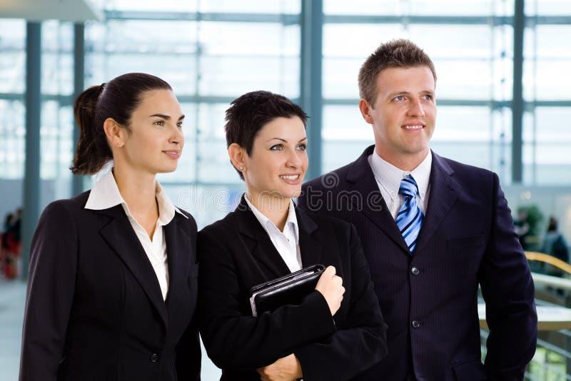Hombres de negocios jovenes acertados imagen de archivo