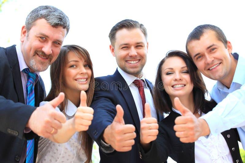 Hombres de negocios jovenes acertados fotografía de archivo