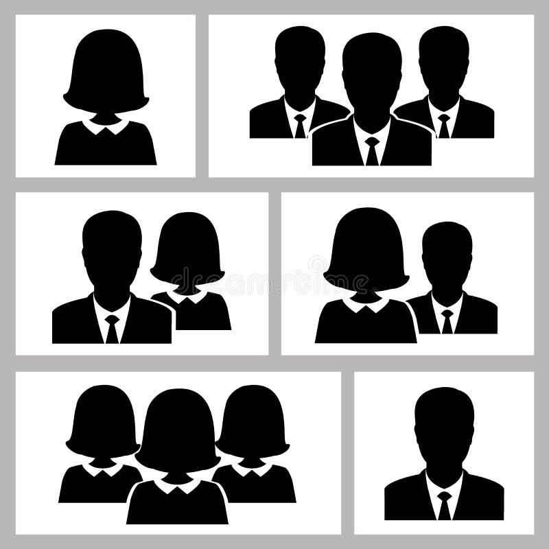 Hombres de negocios de los iconos stock de ilustración