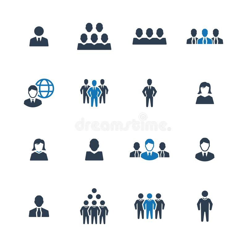 Hombres de negocios, persona, icono del hombre de negocios libre illustration