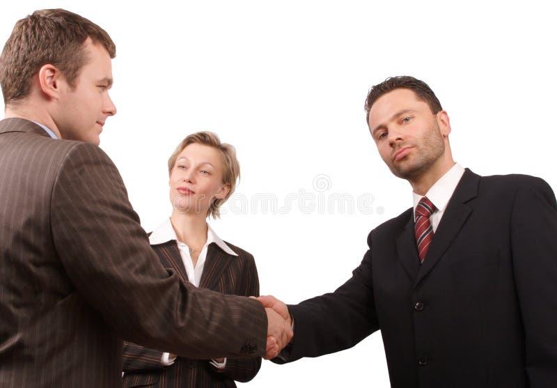 Hombres de negocios - promoción -   imagen de archivo