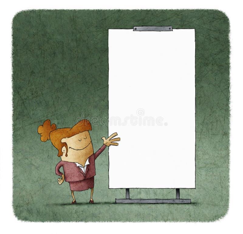 Hombres de negocios que dan una presentación en el tablero blanco libre illustration
