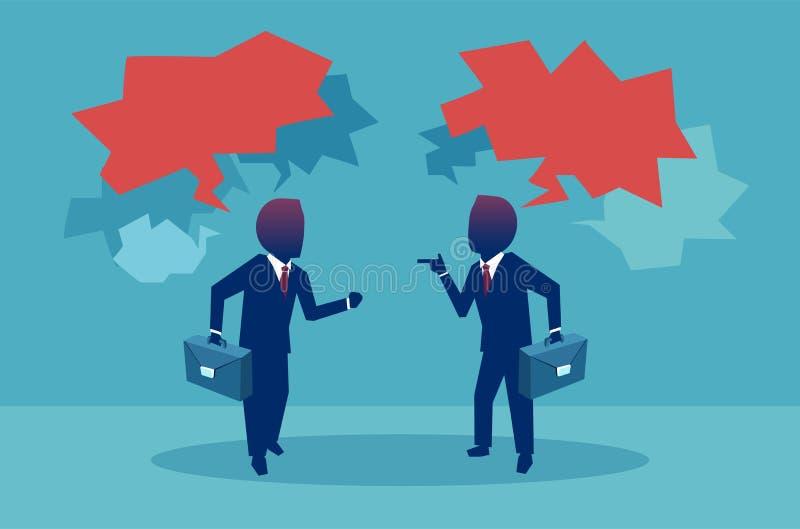 Hombres de negocios que discuten en discusiones stock de ilustración