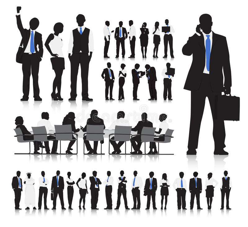 Hombres de negocios que hacen frente a vector libre illustration
