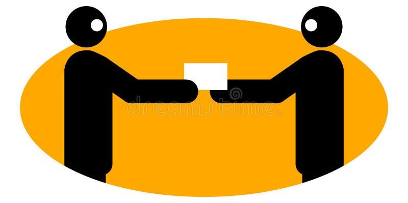 Hombres de negocios que intercambian namecard libre illustration