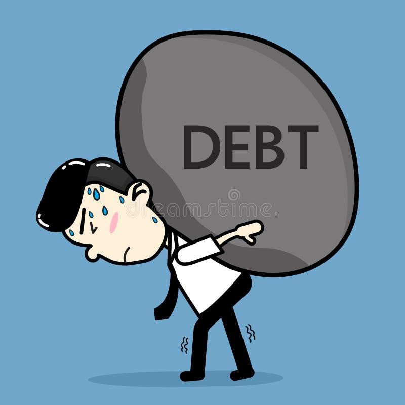 Hombres de negocios que llevan deuda libre illustration