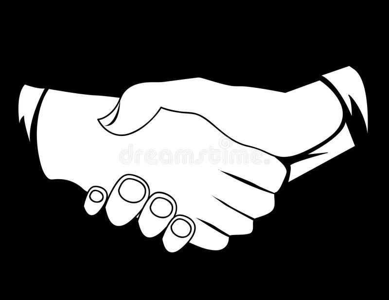 Hombres de negocios que sacuden las manos ilustración del vector