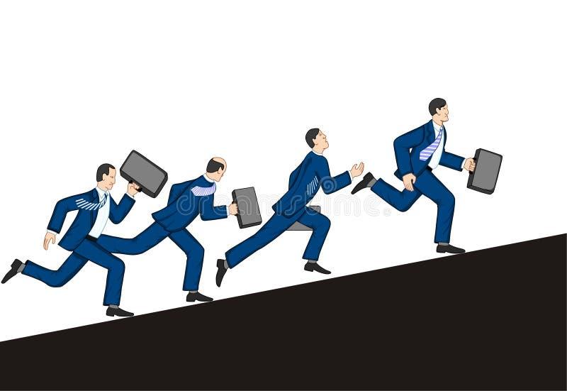 Hombres de negocios que se ejecutan para arriba stock de ilustración