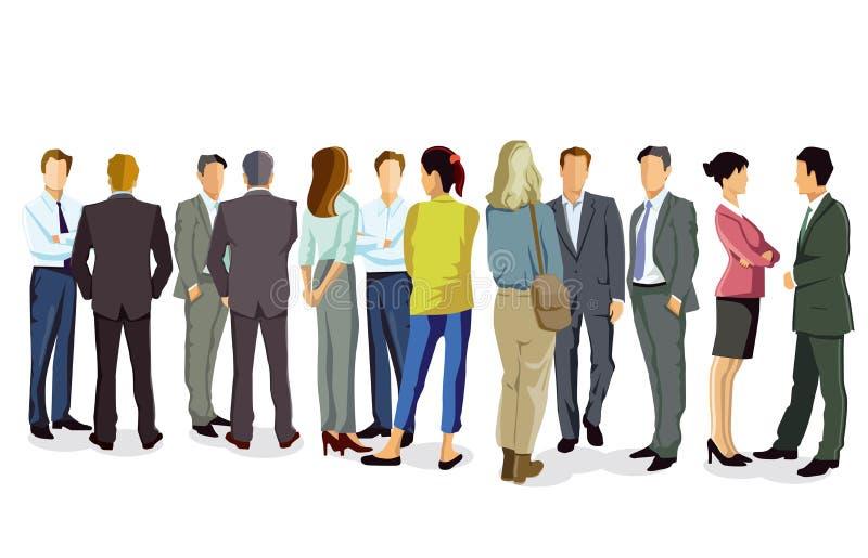 Hombres de negocios que tienen conversación libre illustration