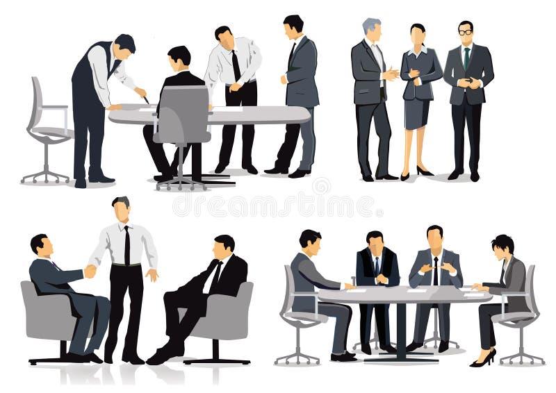 Hombres de negocios que tienen discusiones ilustración del vector